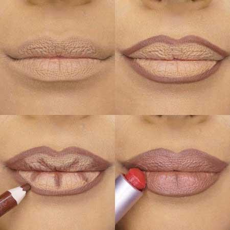 به راحتی با آرایش لب های خود را برجسته کنید