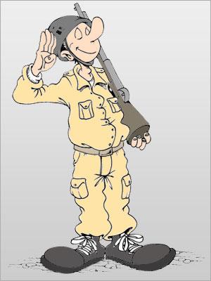 کاریکاتورهای دیدنی با موضوع سربازی