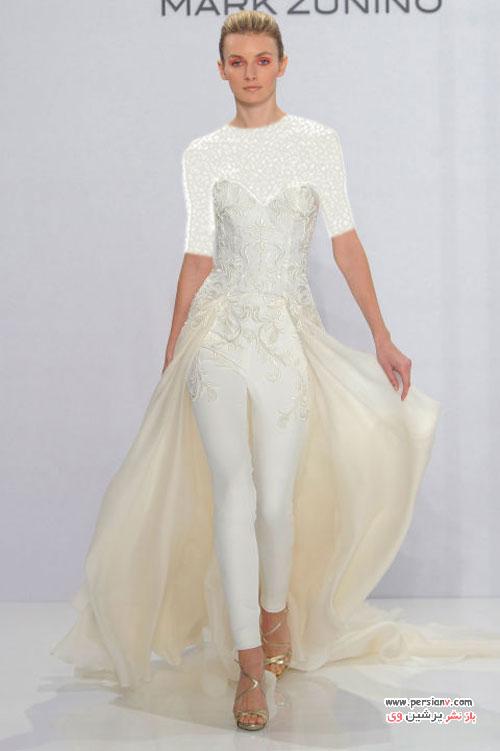 لباس عروس های غیرمنتظره در فشن شو لباس عروس 2017
