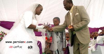 ازدواج باورنکردنی پسر 8 ساله و زن 61 ساله!