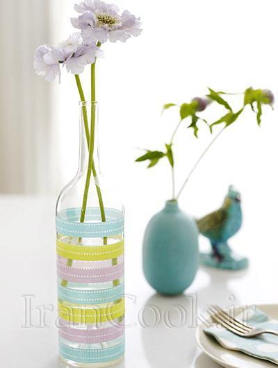 تزئین گلدان