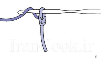 آموزش بافت زنجیره در قلاب بافی تصاویر