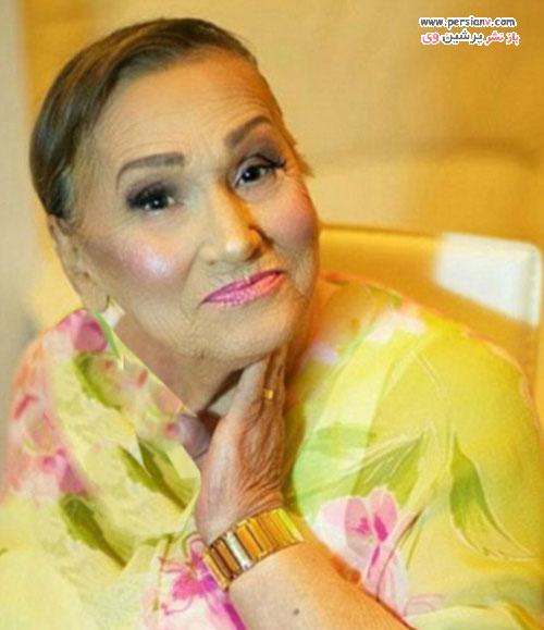 آرایش جالب مادربزرگ 80 ساله و شبیه شدن به ستاره فیلم ها