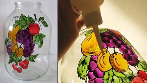 نقاشی روی بطری