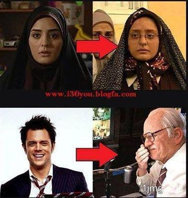 تفاوت گریم در ایران و هالیوود را ببینید !