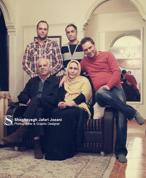 شهروز ابراهیمی همراه خانواده اش