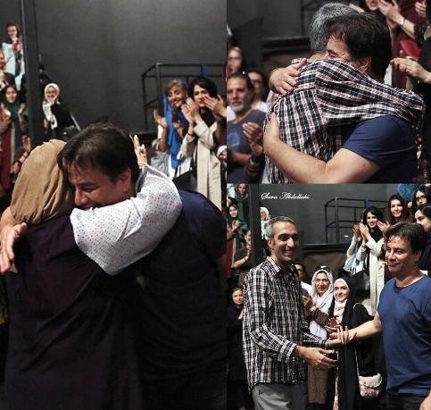 وقتی پیمان قاسم خانی بهاره رهنما را در آغوش می گیرد!