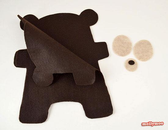 ساخت خرس نمدی