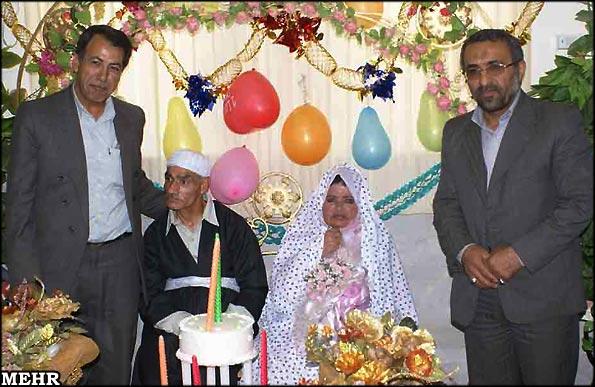 عکس : ازدواج عروس وداماد سالمند