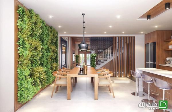 باغچه های عمودی با طراحی حیرت انگیزشان که در داخل خانه به کار گرفته شده اند