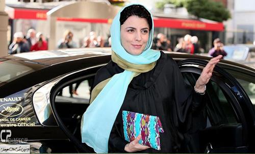 لیلا حاتمی با پوشش ایرانی به عنوان داور جشنواره کن 2014 وارد فرانسه شد