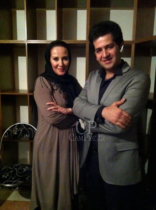 حمید طالب زاده و همسرش