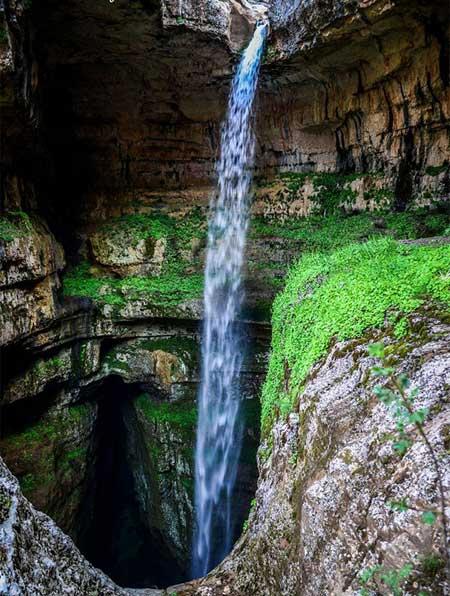 غاری تماشایی در لبنان  تصاویر