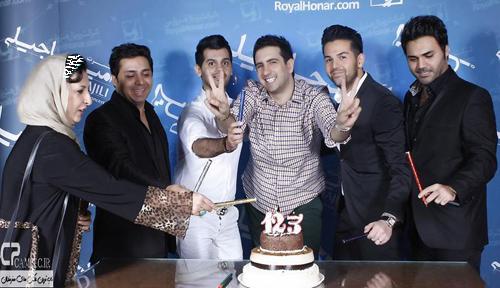 جشن تولد امید حاجیلی در شب کنسرتش
