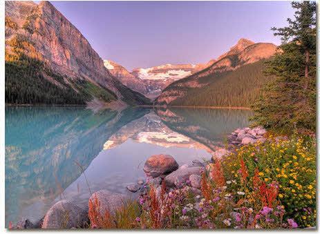 دریاچه لوئیز مکانی زیبا در کانادا