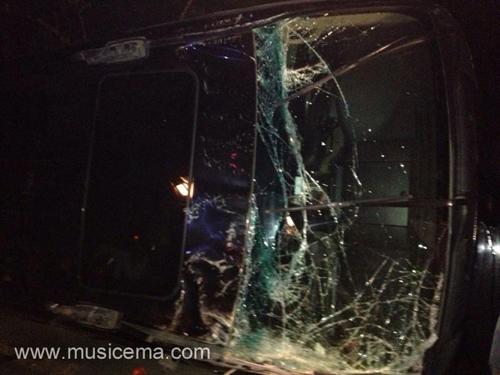 تصاویری از حادثه رانندگی برای گروه آریان